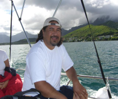 Bully enjoying a day out on Kaneohe Bay on Oahu